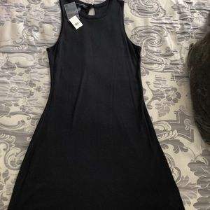 NWT banana republic black cotton dress. Super soft